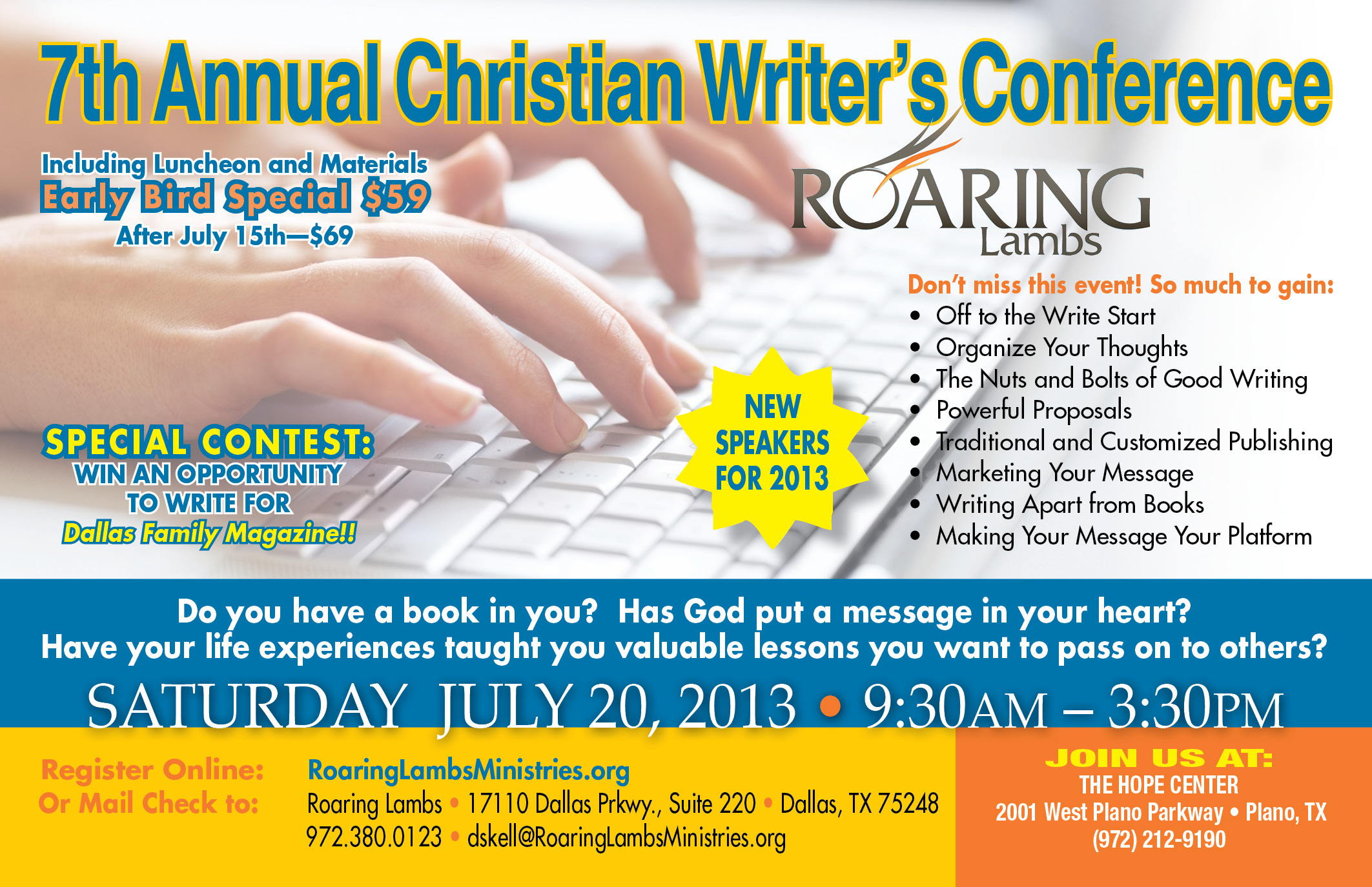 2013 Annual Christian Writer's Conference