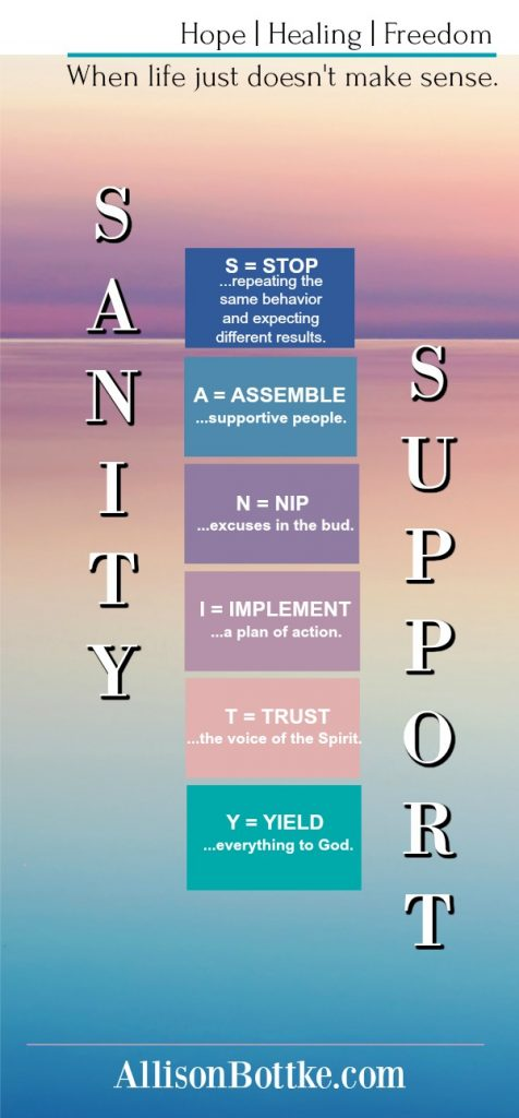 SANITY Support 6-Steps Vertical